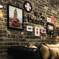 BAIUFOR European Style 8 Pcs Set Photo Wooden Frame White Black Creative Multi Photo Vintage Frames