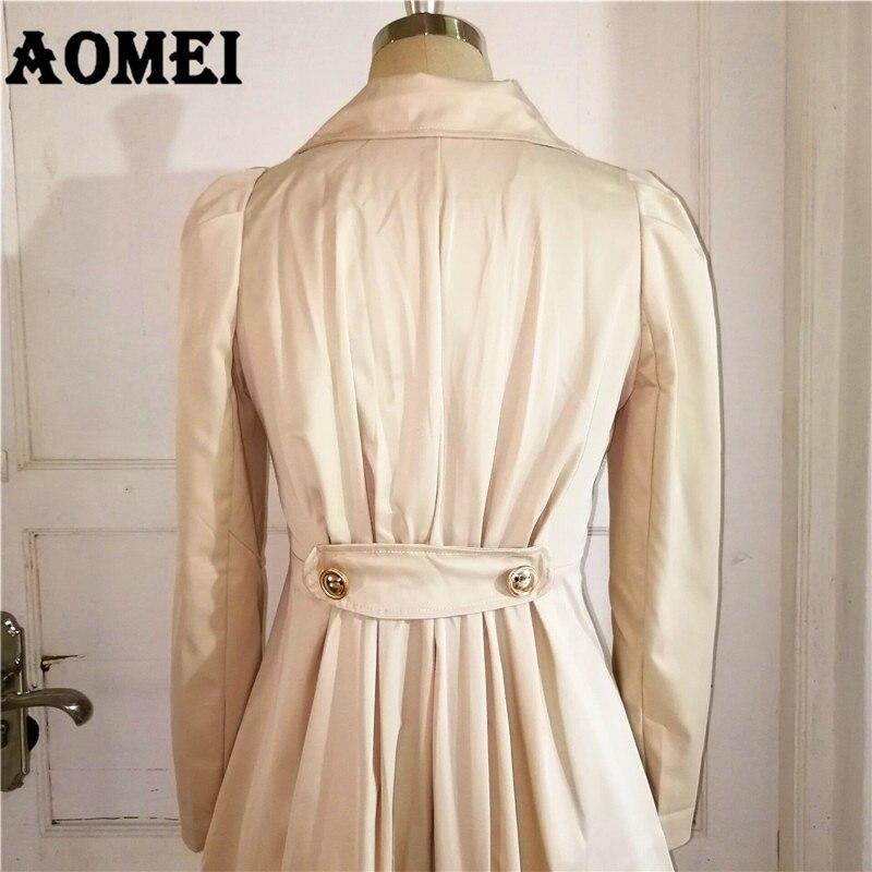 Женское весеннее Элегантное Длинное ветрозащитное пальто с двойной пуговицей, темно-синие однотонные топы с длинными рукавами, офисный женский зимний Тренч, верхняя одежда