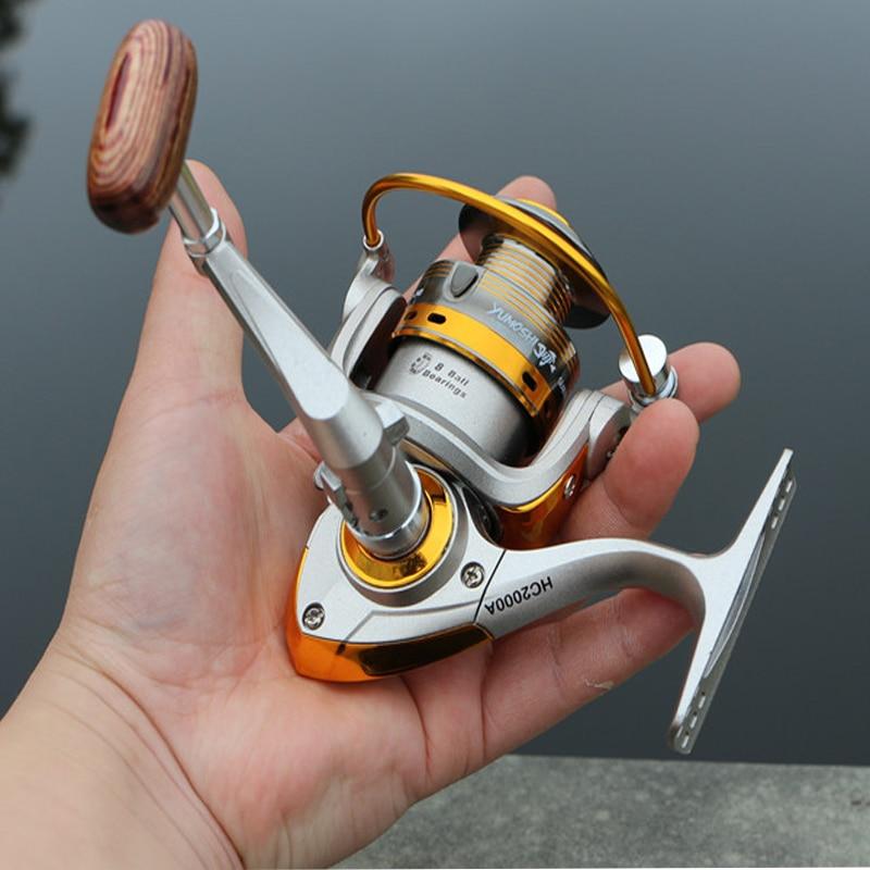 YUMOSHI 2000 Small Metal Head 8BB 5 5 1 Fly Reel Spinning Baitcasting Carp Fishing Reels
