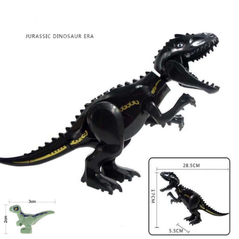 2PCS LOT Legoings Jurassic Dinosaurs World 2 Carnotaurus Indominus Rex I rex Velociraptor Building Blocks Bricks Baby Toys in Blocks from Toys Hobbies