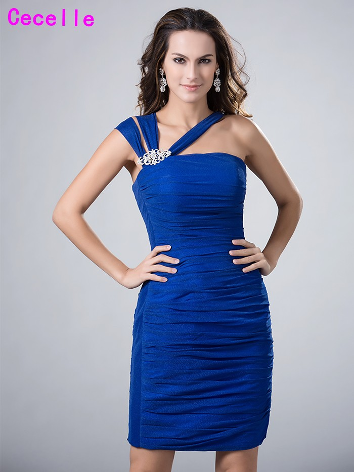 Royal Blue Sheath Fitted Short   Cocktail     Dresses   With Straps For Women   Cocktail   Party   Dresses   Knee Length Robe De   Cocktail   Real