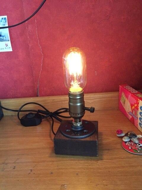RH loft Эдисон промышленного ретро личность трубопровод лампы кафе украшение творческий настольная лампа Отель Магазин Клуб Кафе Рядом С