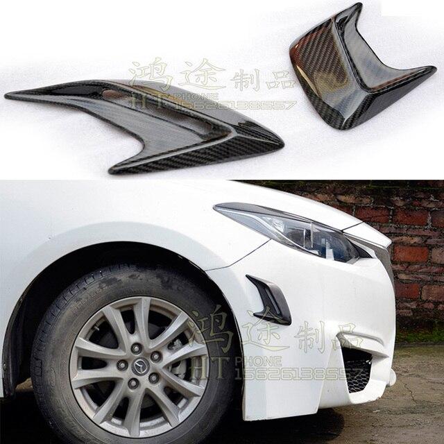 Universal Carbon Fiber Auto Car Side Fender Vent Engine Hood Trim for BMW Audi Mercedes-Benz Volkswagen