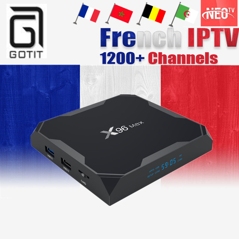 GOTiT French X96 Max Android 8 1 TV Box Amlogic S905X2 Dual WIFI 1100 Live Neo