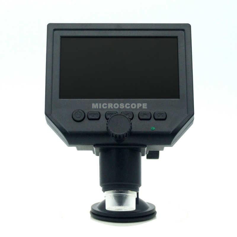 """1-600x цифровой электронный микроскоп портативный 3.6MP VGA микроскопы 4,3 """"HD LCD Pcb Материнская плата ремонт эндоскопа Лупа камера"""