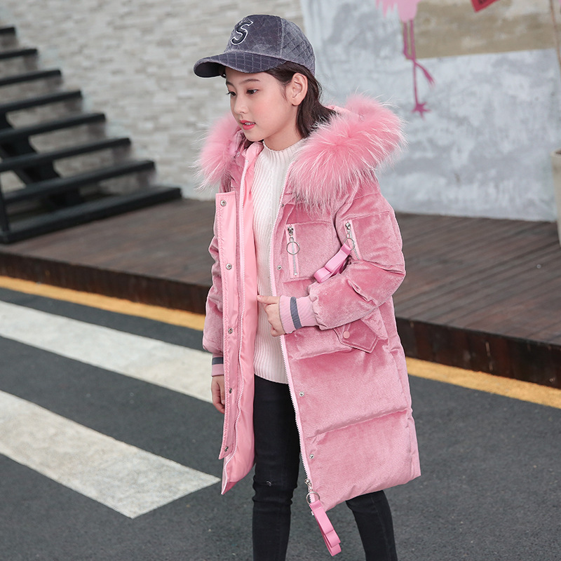 2018 Children's Winter Jackets Cotton-Padded Jackets Kids Winter Coats Duck Down Girls Winter Jackets Parka For Girls Clothes женская утепленная куртка shang feier 4055 2014women winter cotton padded jackets coats slim parka