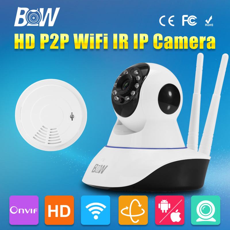 HD 720P IP Camera P2P WiFi Wireless CMOS IR-Cut Day and Night Vision Network CCTV Onvif Indoor IP 3.6mm Endoscope Audio Recorder