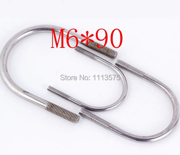 M6*90,304 321 316 stainless steel U bolt,bolt and nut,climp coupling nuts and bolts fasterner  hardware