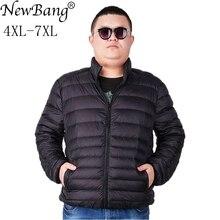 NewBang العلامة التجارية زائد 7XL جاكت مضلع خفيف الرجال خفيفة الوزن الرجال أسفل معطف الذكور الدافئة المحمولة سترة واقية ريشة سترة