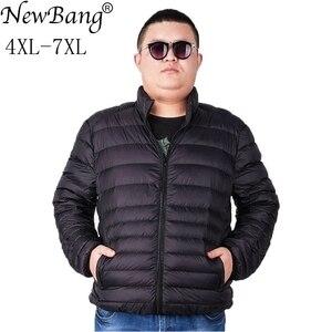 Image 1 - NewBang Marke Plus 7XL Ultra licht Unten Jacke Männer Leichte männer Unten Mantel Männlichen Warme Tragbare Windjacke Feder Parka