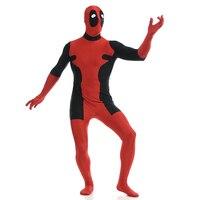 Ainclu AnimeFancy Lycra Rojo cosplay para Halloween Cosplay deadpool Zentai Traje de Spandex para Adultos