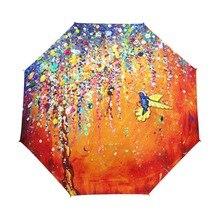 Креативный разноцветный Зонт Колибри с защитой от УФ-лучей, зонт с птицей, 3 складных подарка, солнечные дождливые зонты для женщин