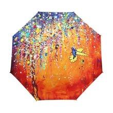 Фотография Creative Colorful Hummingbird Umbrella Anti-uv Sun Protection Umbrella Bird 3 Folding Gift Sunny Rainy Umbrellas For Women