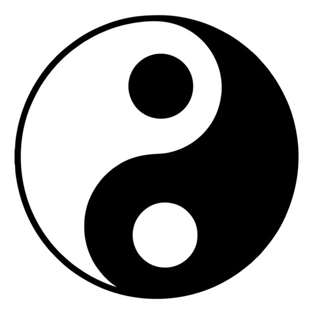 Hotmeini 13x13 Cm Dibujos Animados Yin Yang Pegatinas De Coche