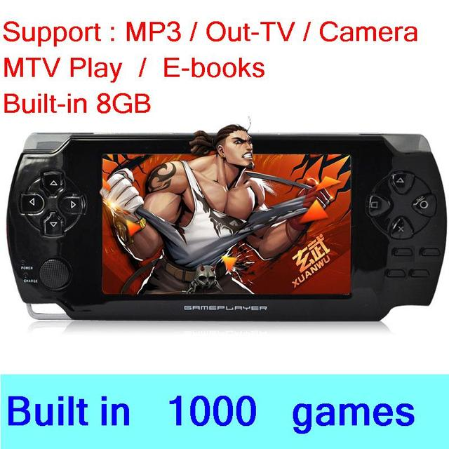 """Cool baby x6 handheld 4. 3""""lcd support battery, mp3, download games."""