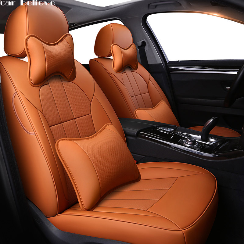 Car Believe car seat cover For vw golf 4 5 VOLKSWAGEN polo 6r 9n passat b5 b6 b7 Tiguan accessories covers for vehicle seat car seat cover car seat covers for volkswagen vw bora golf 3 4 5 6 7 gti golf r mk golf7 tiguan 2009 2008 2007 2006