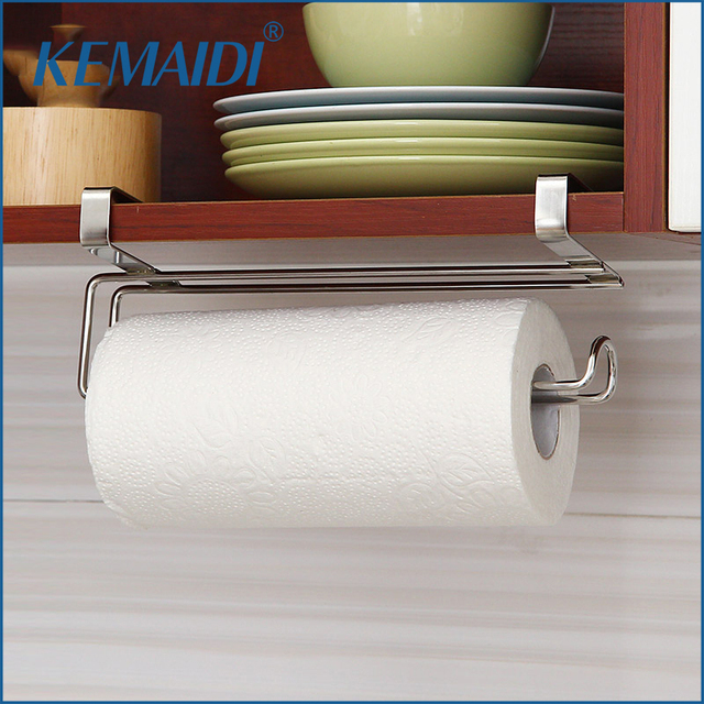 Charmant KEMAIDI New Stainless Steel Kitchen Tissue Holder Hanging Bathroom Toilet  Roll Paper Holder Kitchen Paper Towel