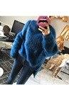 100% mink cashmere camisola do pulôver jumper para as mulheres nova moda solta camisola jumper de grandes dimensões quente rosa azul