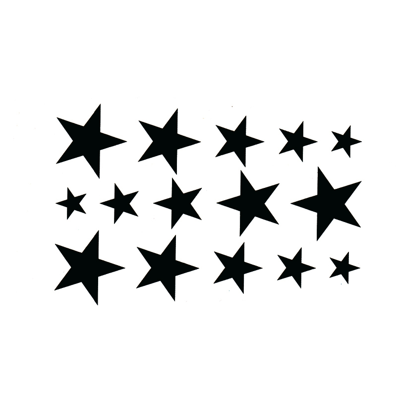 Star Waterproof Temporary Tattoo Sticker Sexy Product 10.5*6cm Harajuku Sleeve Tatoo Pesca Fake Tattoo Adesivo De Parede