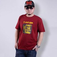 Cheap Price Man S Casual T Shirt Short Sleeve O Neck With Letter Printed Red White