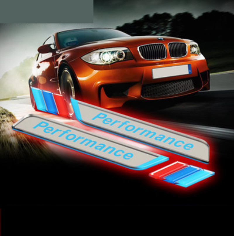 Image 5 - New 2pec/set M Power Performance Fender Car Styling Decal Emblem Badge For BMW M 1 3 4 5 6 7 E Z X Car Stickers Accessories-in Car Stickers from Automobiles & Motorcycles