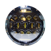 Competitive Price 7 Led Headlight J Eep 75w 12V 24V 7 Round Led Headlight For JK