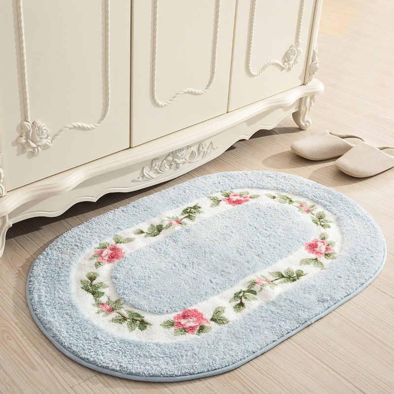 Мягкий водопоглощающий напольный коврик нескользящий коврик для ванной комнаты Овальный коврик для ванной в форме 40*60/50*80/45*120 см домашний декор пол ковер