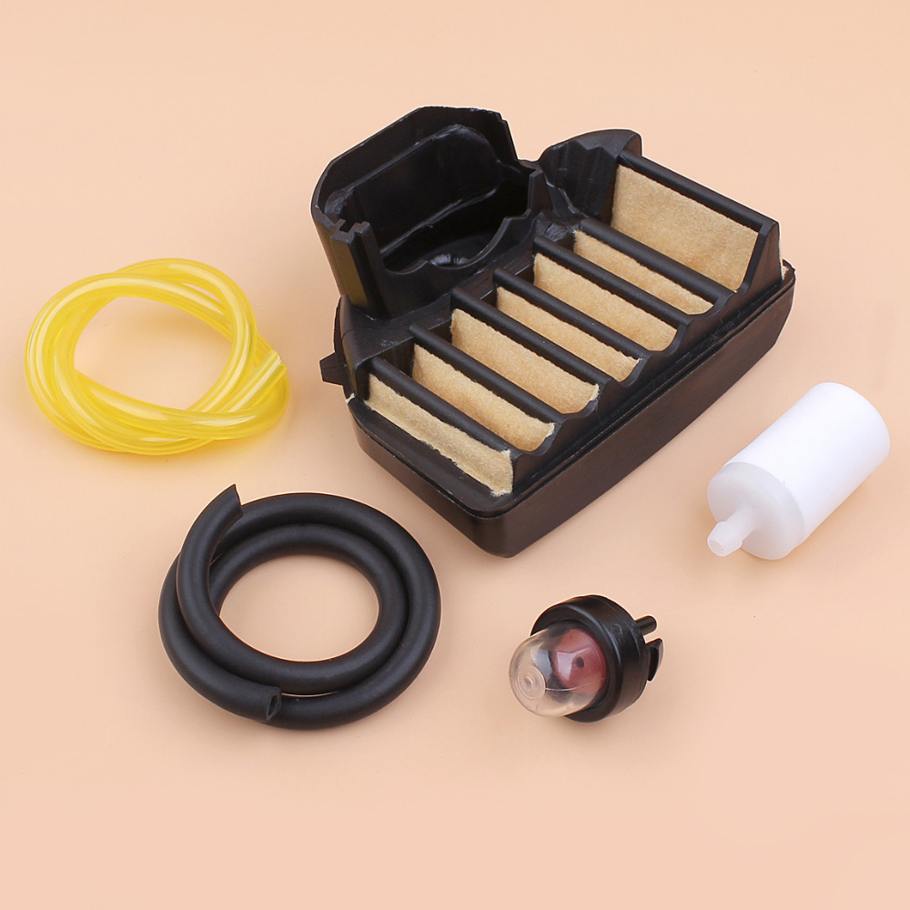 Air Filter Fuel Line Hose Primer Bulb Kit For Husqvarna 455 460 Rancher Chainsaw Replacement Parts