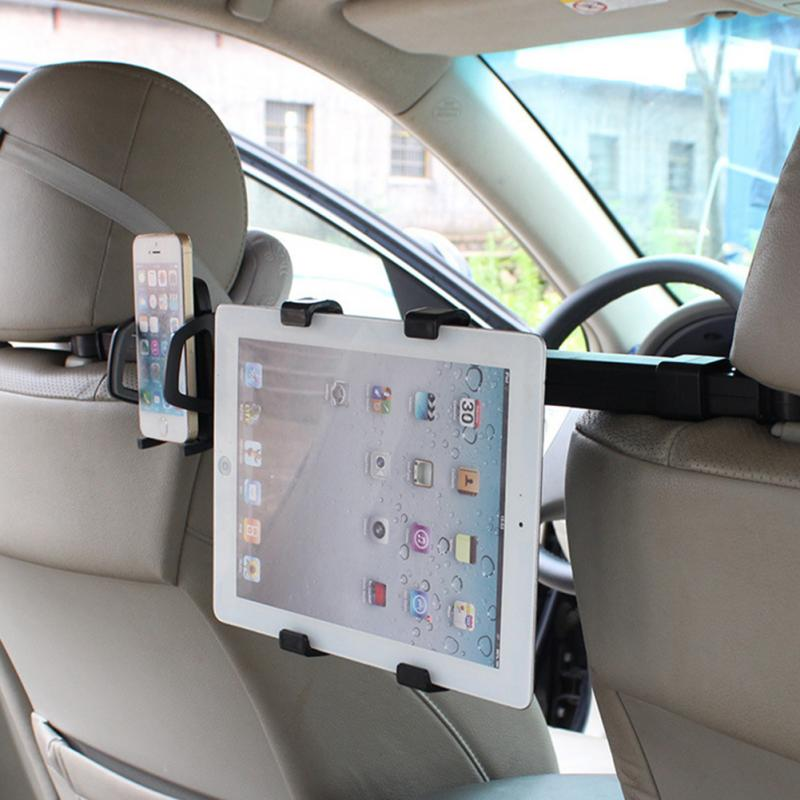 Tablet PC Holding Rack For I pad Phone Holder 2 in 1 Double Used Universal Car Back