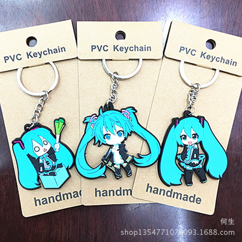 Cartoon Figures Keychain Toys Action-Figure-Model Gifts Pvc-Collection Anime Hatsune-Miku