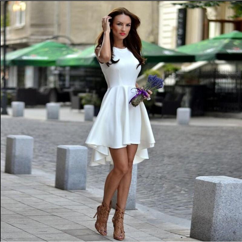 2018 Casual Womens Dresses For Female Sleeveless O-neck Women Clothing Work Office Dress