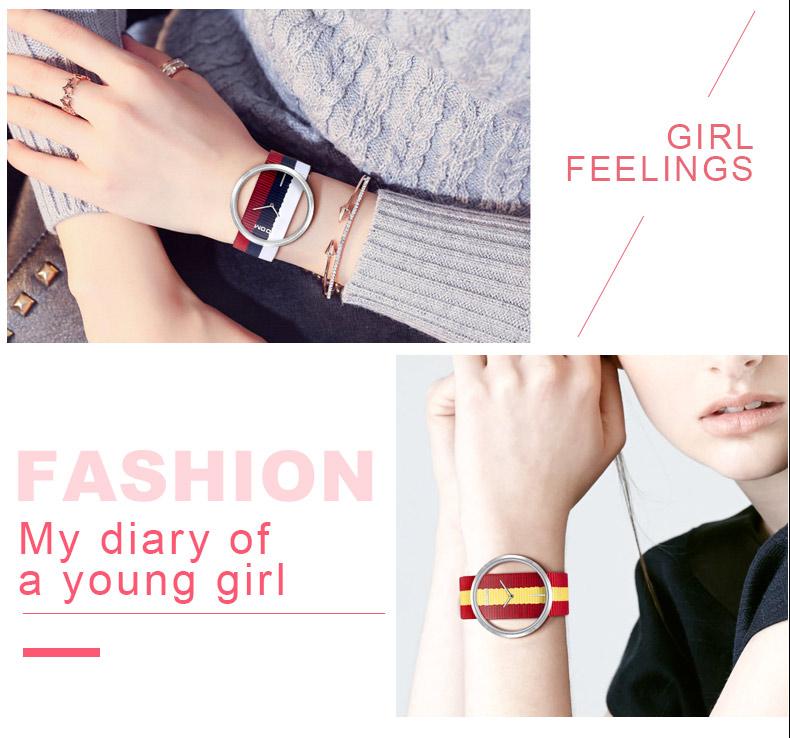 DOM: Reloj de pulsera de lujo para mujer 7