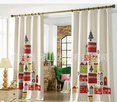rstico moderno de la ventana cortinas tela impresa nios cortina dormitorio infantil de dibujos animados de