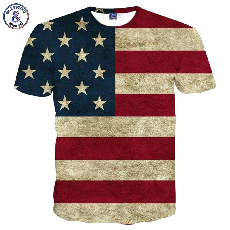 Usa flag t shirt men women sexy 3d tshirt for T shirt printing usa