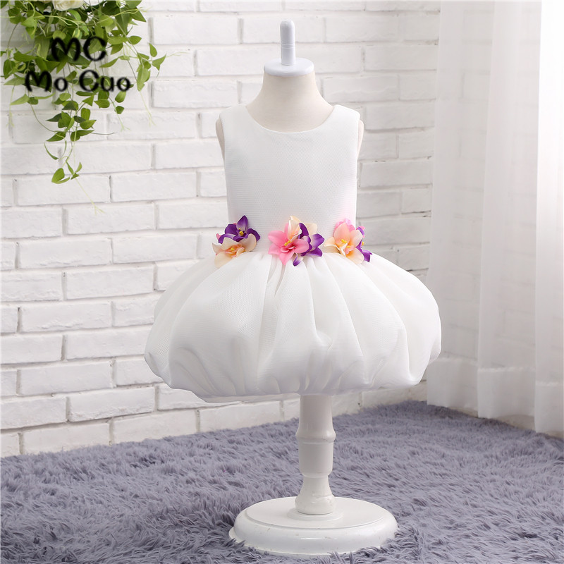 2017 Lovely   Flower     Girl     Dresses   Ball   Flowers   Tank Scoop Zipper Wedding Pageant First Communion   Dresses   for Little   Girls