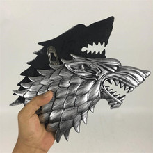 Movie Game of Thrones House Stark Winterfell Family Crest Direwolf Model Cosplay Props Figure Resin Collectible