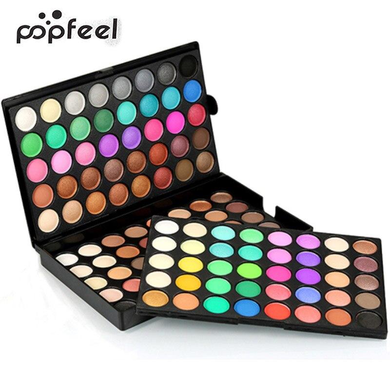 popfeel 120 Colors Professional Matte Shimmer Eyeshadow Palette Makeup Cosmetic Kit