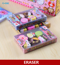 10-Pack Novelty Dessert Chocolate Eraser , Creative Delicious Food Rubber Pencil Erasers