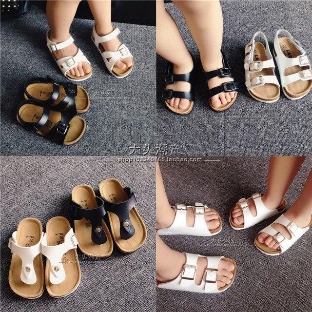 34eba87d7b3 New 2015 Summer Kids Shoes Boys and Girls Sandals Brand BIRKENSTOCK Cork Sandals  Boys Shoes Children Beach Sandals (2-8 Years)