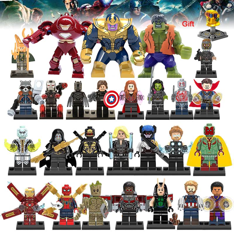 Super Heroes Building Blocks lEGOED Marvel Avengers 27Pcs/lot Infinity War Captain Ant Man Iron Man Thanos Black Panther Toys
