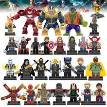 Super Heroes Building Blocks lEGOED Marvel Avengers 27Pcs/lot Infinity War Captain Ant Man Iron Man Thanos Black Panther Toys