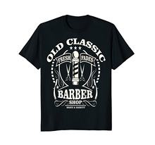 2018 Hot sale Fashion summer style Old classic barber shop shirt Tee shirt(China)