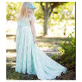 Colors Underlay Ivory Lace with Ribbon Flower Girls Dress Juniors Bridesmaid Maid of Honor Gown Sweep Train Communion Party Girl