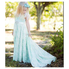 81900b220 Colors Underlay Ivory Lace with Ribbon Flower Girls Dress Juniors  Bridesmaid Maid of Honor Gown Sweep