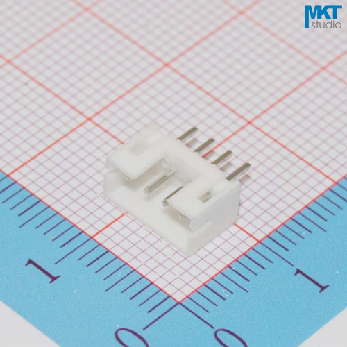100Pcs PH2.0 4P Straight 2.0mm Pitch PCB Male Box Header Bar Connector, Pin Header Socket