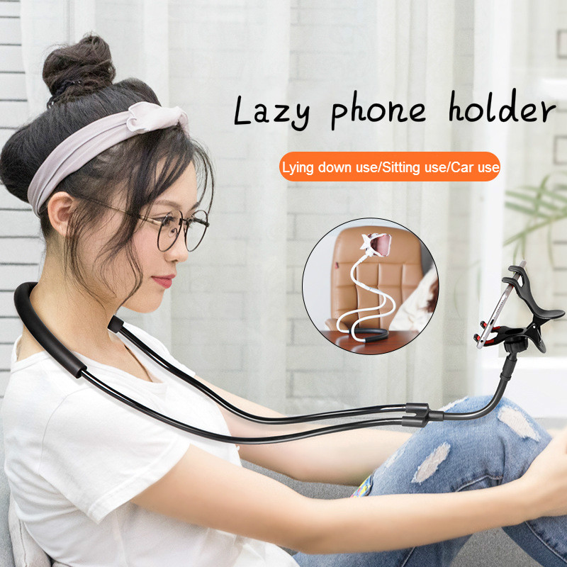 Flexible Mobile Phone Holder Hanging Neck Lazy Necklace Bracket Bed 360 Degree Smartphone Holder Stand For iPhone Xiaomi Huawei