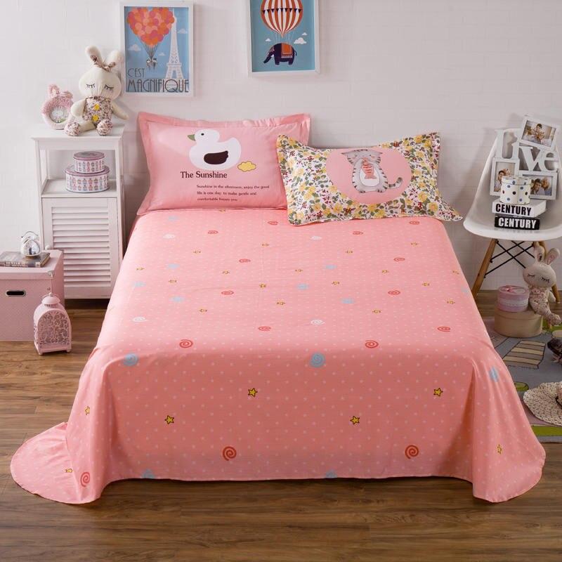 Sweet Candy Cat Bedding Sets 100% Cotton Girl/Teens Bedroom Decor 3d Duvet Cover Full/Queen Size Bedlinen Duck Pillowshams 4/5PC - 2