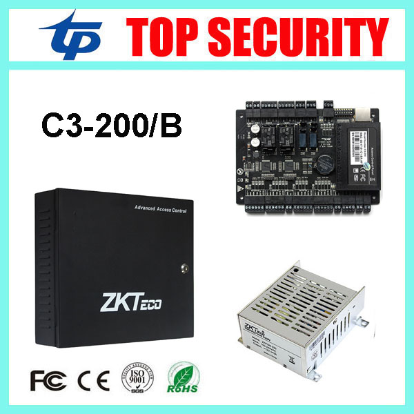 Two doors two ways door access control panel biometric proximity card access control board system with battery function power biometric face and fingerprint access controller tcp ip zk multibio700 facial time attendance and door security control system
