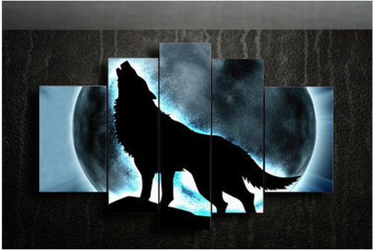 Wolf Wall Art online get cheap moon art paintings -aliexpress | alibaba group