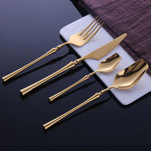 24 Pcs Stainless Steel Tableware Gold Cutlery Set Knife S poon and Fork Set Dinnerware Korean Food Cutlery Kitchen Accessories